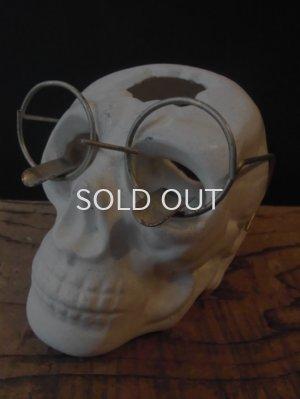 画像1: 60s JAPAN製 スカル 眼鏡 灰皿