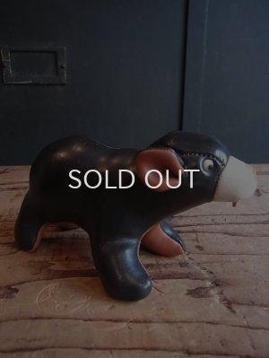 画像1: 60s レザー製 熊 人形