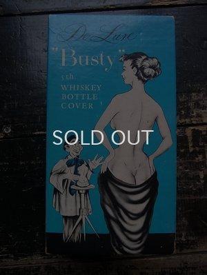 画像1: 60s 青箱 Busty whiskey bottle cover