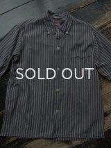 60s ストライプ柄 半袖ボタンダウンシャツ