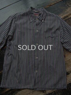 画像1: 60s ストライプ柄 半袖ボタンダウンシャツ