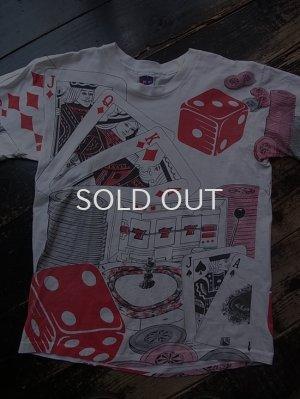 画像1: 90s カジノ柄 総柄 Tシャツ