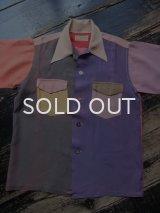 50s クレイジーパターン 半袖シャツ