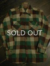 60S BIG YANKマチ付きウールシャツ